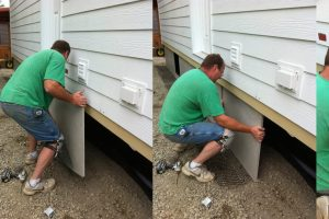 concrete skirting for mobile homes