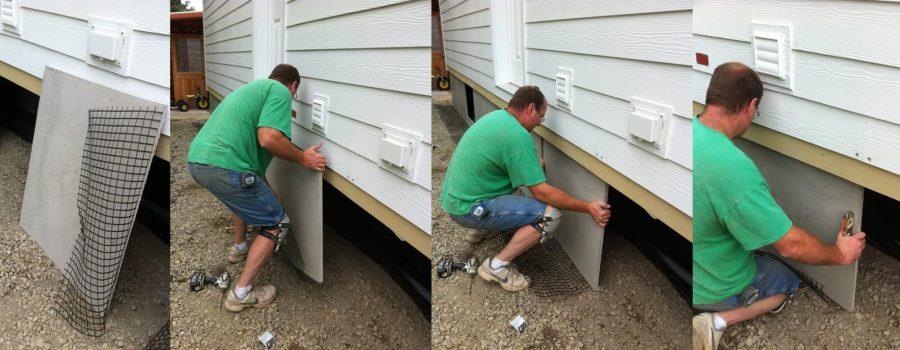 concrete skirting for mobile homes