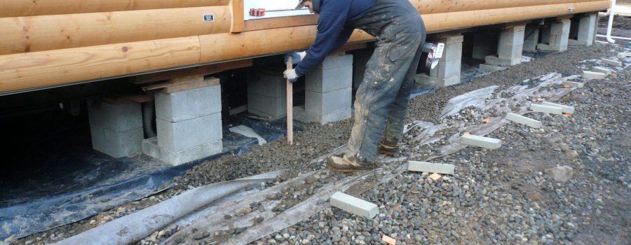 soils preparation for Mobile Home Skirting Installation