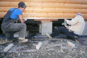 how do you re-level a mobile home?