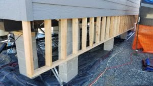 framing for stepped foundation look on a manufactured home - DURASKIRT