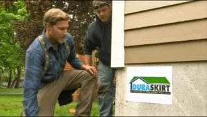 How can I hide my mobile home skirting?